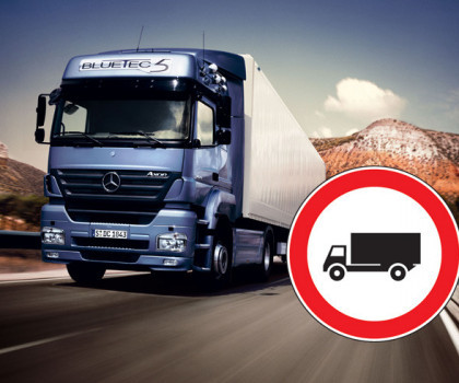 Luglio 2021: sono tredici i giorni con divieti di circolazione per camion.